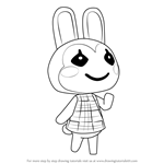 How to Draw Bunnie from Animal Crossing
