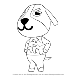 How to Draw Butch from Animal Crossing