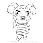 How to Draw Canberra from Animal Crossing