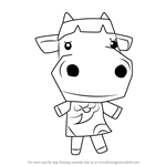 How to Draw Carrot from Animal Crossing