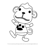 How to Draw Champ from Animal Crossing