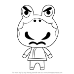 How to Draw Croque from Animal Crossing