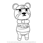 How to Draw Curt from Animal Crossing