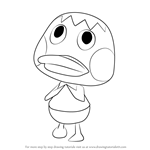 How to Draw Deena from Animal Crossing