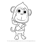 How to Draw Deli from Animal Crossing