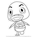 How to Draw Drake from Animal Crossing