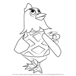 How to Draw Egbert from Animal Crossing