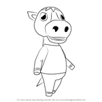 How to Draw Elmer from Animal Crossing