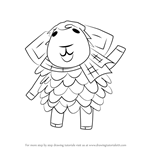 How to Draw Eunice from Animal Crossing