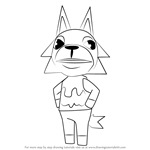 How to Draw Fang from Animal Crossing