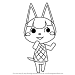 How to Draw Felicity from Animal Crossing