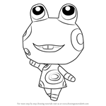 How to Draw Frobert from Animal Crossing