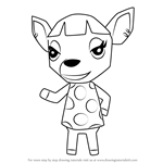 How to Draw Fuchsia from Animal Crossing