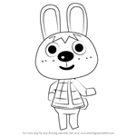 How to Draw Gabi from Animal Crossing