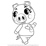 How to Draw Gala from Animal Crossing