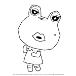 How to Draw Gigi from Animal Crossing