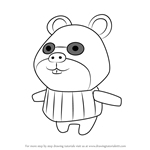 How to Draw Graham from Animal Crossing