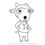 How to Draw Gruff from Animal Crossing