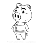 How to Draw Hugh from Animal Crossing
