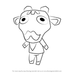 How to Draw Iggy from Animal Crossing