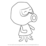 How to Draw Inkwell from Animal Crossing