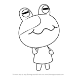 How to Draw Jeremiah from Animal Crossing