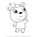 How to Draw June from Animal Crossing