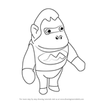 How to Draw Louie from Animal Crossing