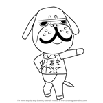 How to Draw Mac from Animal Crossing