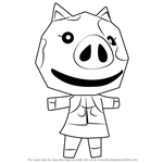How to Draw Maggie from Animal Crossing