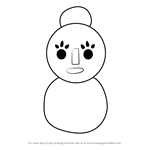 How to Draw Mama Snowman from Animal Crossing