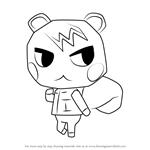 How to Draw Marshal from Animal Crossing