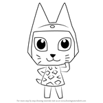 How to Draw Meow from Animal Crossing