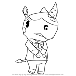 How to Draw Merengue from Animal Crossing