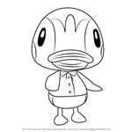 How to Draw Molly from Animal Crossing