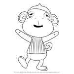 How to Draw Monty from Animal Crossing
