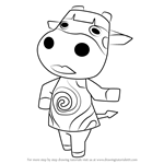 How to Draw Naomi from Animal Crossing