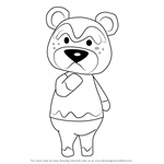 How to Draw Nate from Animal Crossing