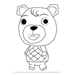 How to Draw Olive from Animal Crossing