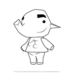 How to Draw Paolo from Animal Crossing