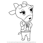 How to Draw Pashmina from Animal Crossing