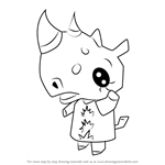 How to Draw Patricia from Animal Crossing