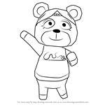 How to Draw Paula from Animal Crossing