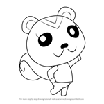 How to Draw Peanut from Animal Crossing