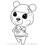 How to Draw Pekoe from Animal Crossing
