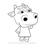 How to Draw Petunia from Animal Crossing