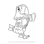 How to Draw Pierce from Animal Crossing