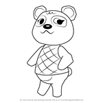 How to Draw Pinky from Animal Crossing