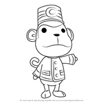 How to Draw Porter from Animal Crossing