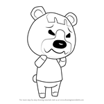 How to Draw Pudge from Animal Crossing